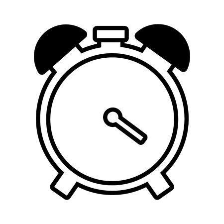 alarm clock time on white background