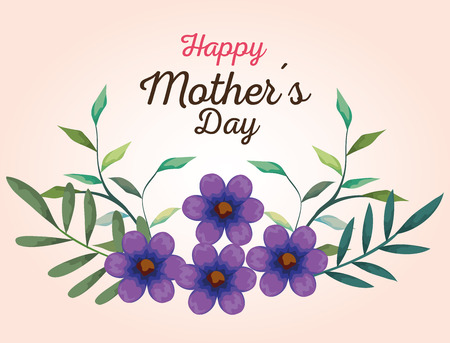 beautiful flowers plants to mothers day vector illustration Illusztráció