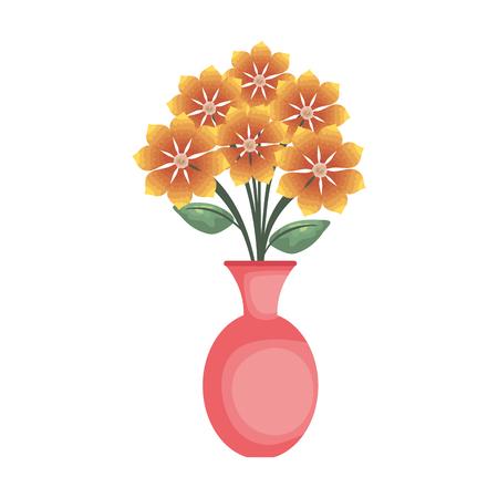 Vase avec des fleurs design illustration vectorielle icône Vecteurs
