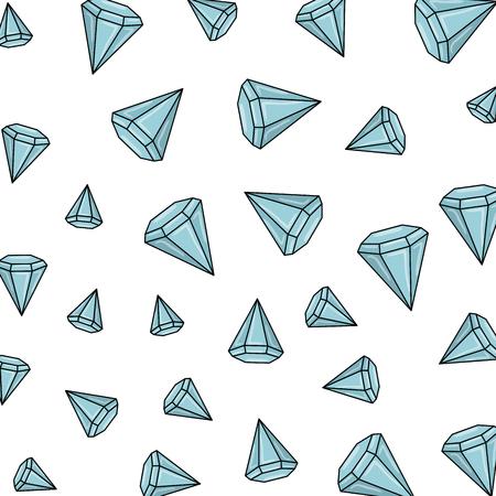 diamond luxury isolated icon vector illustration design Ilustración de vector