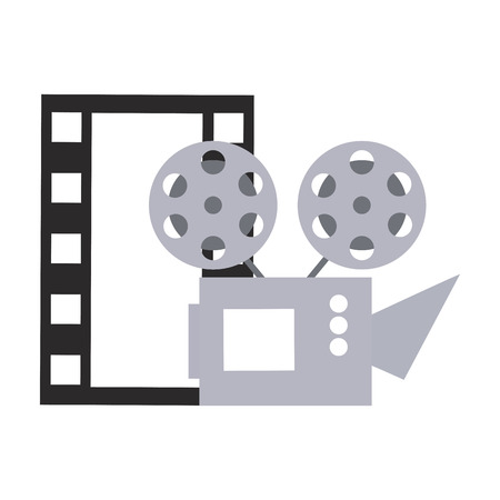 cinema projector and movie tape icon vector illustration design Foto de archivo - 119405483