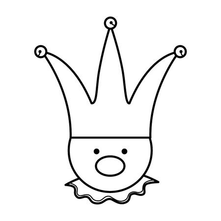fools day joker character vector illustration design Reklamní fotografie - 119420423
