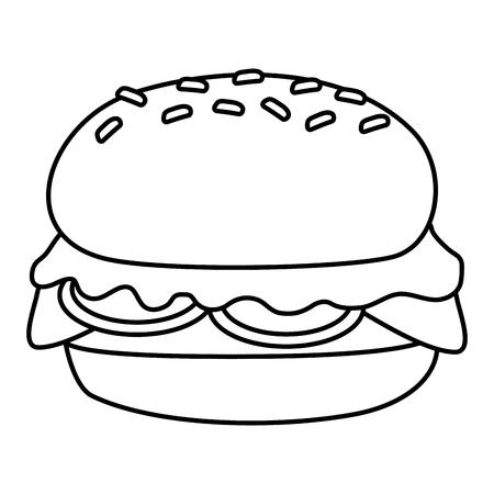 burger fast food on white background vector illustration Ilustração