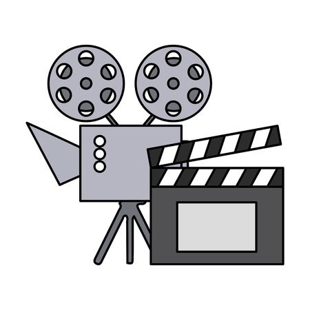 cinema projector and clapperboard isolated icon vector illustration design Foto de archivo - 124268124