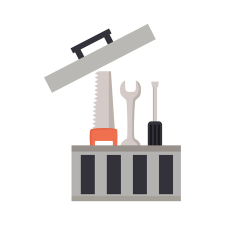 toolbox repair construction saw spanner screwdriver vector illustration 矢量图像