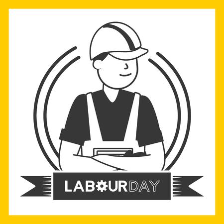 happy labour day worker employee vector illustration Foto de archivo - 124268288
