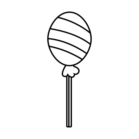 sweet lollipop icon on white background vector illustration