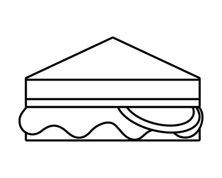 sándwich de comida rápida fondo blanco ilustración vectorial