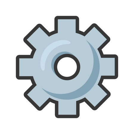 gear tool icon on white background vector illustration Stock Vector - 119485280