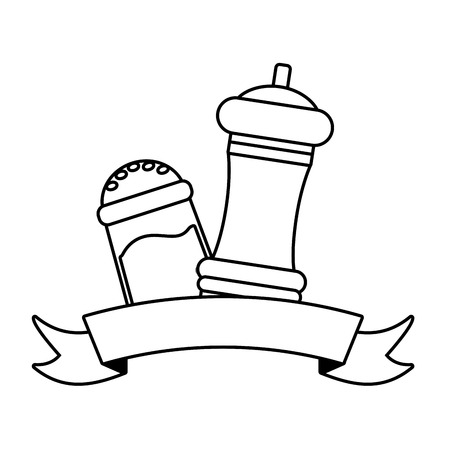 kawaii salt and pepper cartoon vector illustration Banque d'images - 124268557