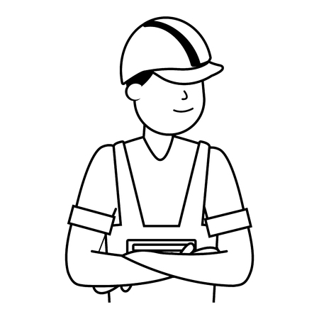 happy labour day worker employee vector illustration