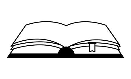 open book isolated icon vector illustration design Ilustração Vetorial