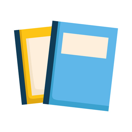 stack of books isolated icon vector illustration design