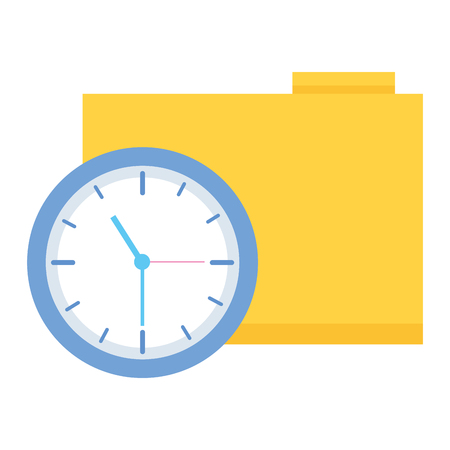 work folder clock time business vector illustration Zdjęcie Seryjne - 124268747