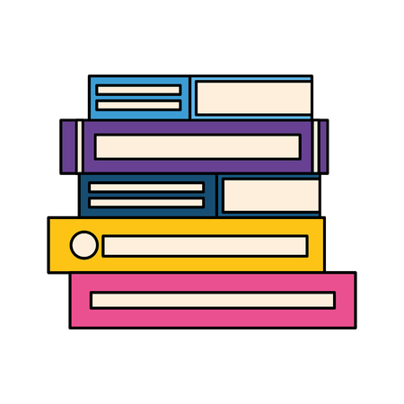 stack of books isolated icon vector illustration design Illustration