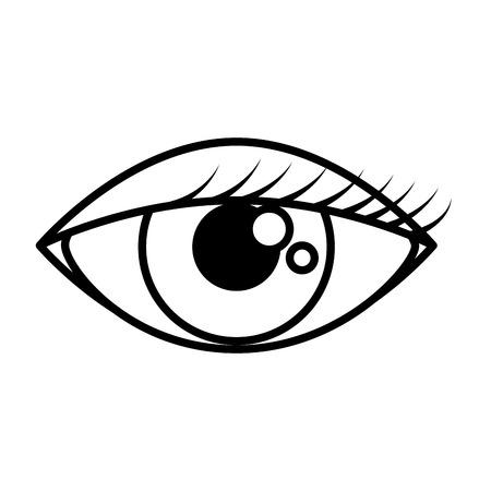 weibliches Auge isoliert Symbol Vektor Illustration Design Vektorgrafik