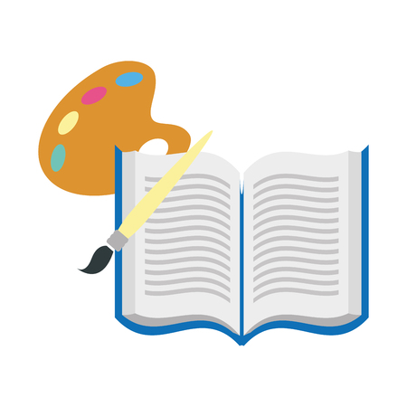 open book with brush isolated icon vector illustration design Illustration