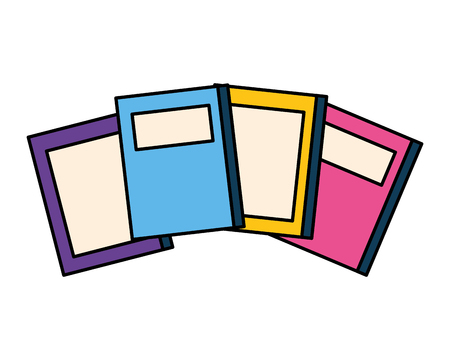 stack of books isolated icon vector illustration design Stock Illustratie