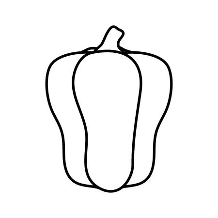 fresh pepper vegetable icon vector illustration design