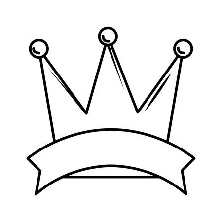 Diseño de ilustración de vector de icono de corona de reina aislado Ilustración de vector