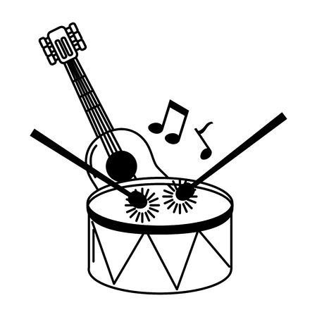 musical instruments isolated icon vector illustration design