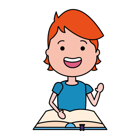 young man with open book icon vector illustration design  イラスト・ベクター素材