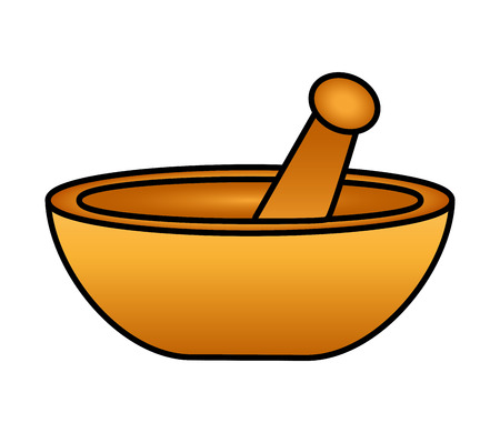 mortar and pestle icon on white background vector illustration design Banco de Imagens - 119523438