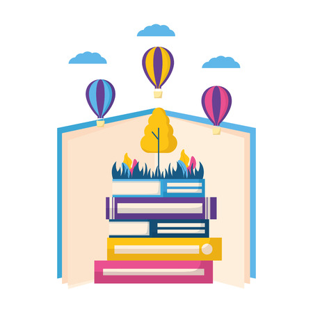 world book day literature learn know vector illustration Stock fotó - 124247379