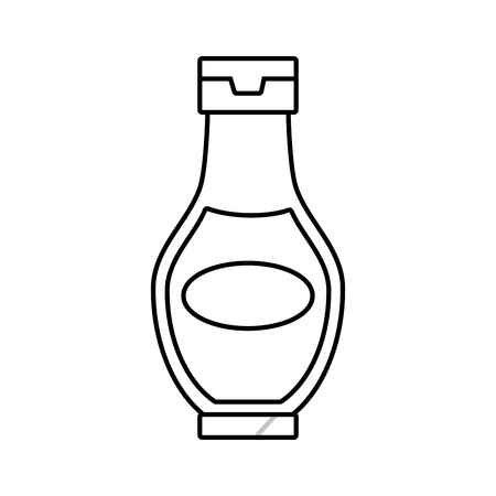 sauce bottle fast food white background vector illustration