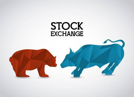 stock exchange design, vector illustration eps10 graphic Ilustracja