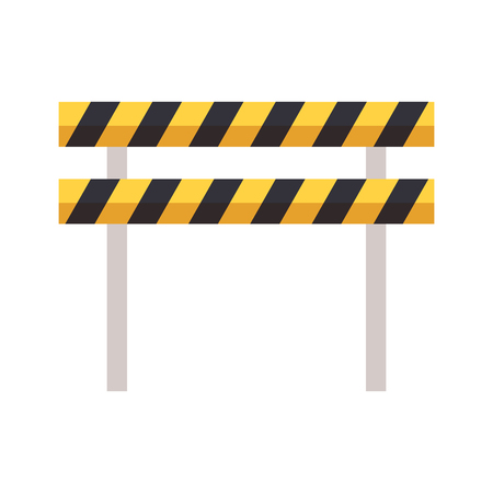traffic barrier caution on white background vector illustration