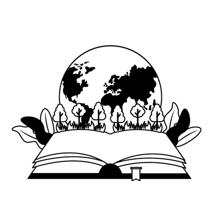 world book day planet ecology nature vector illustration