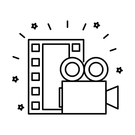 video camera in lights icon vector illustration design