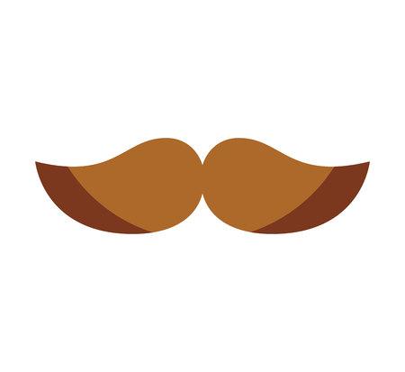 mustache silhouette isolated icon vector illustration design