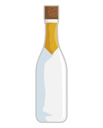 wine bottle isolated icon vector illustration design Stock Vector - 119672379