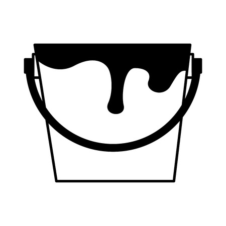 pot paint isolated icon vector illustration design