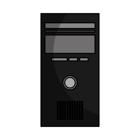computer desktop cpu isolated icon vector illustration design Stock fotó - 124202197