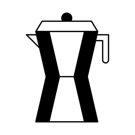 coffee teapot drink isolated icon vector illustration design