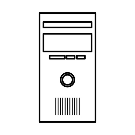 computer desktop cpu isolated icon vector illustration design Banque d'images - 124202202