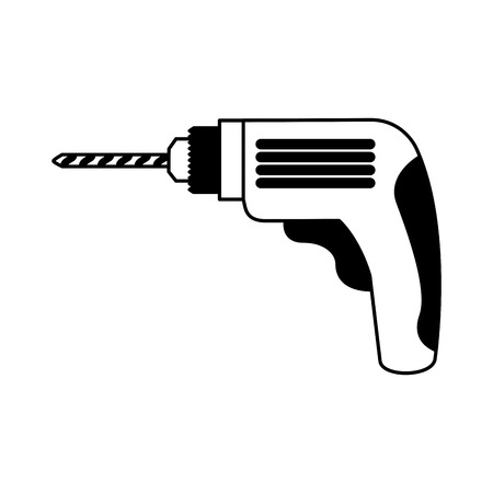 drill electric tool icon vector illustration design