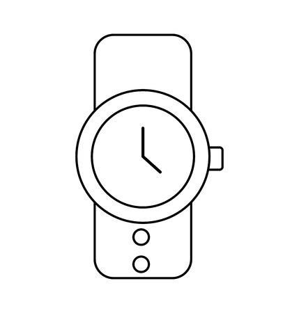 masculine hand watch icon vector illustration design Standard-Bild - 124202312