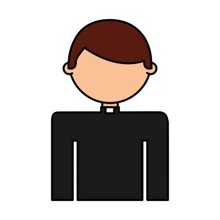 priest man avatar character vector illustration design Illustration