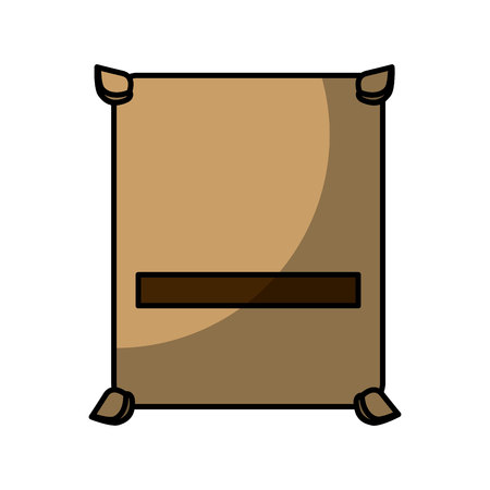 concrete bag isolated icon vector illustration design Illustration