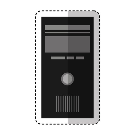 computer desktop cpu isolated icon vector illustration design