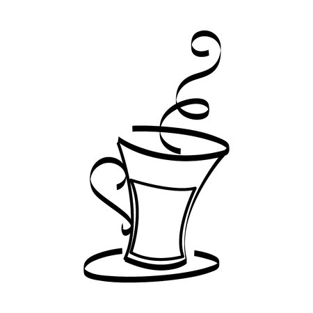 coffee cup drink isolated icon vector illustration design Ilustração
