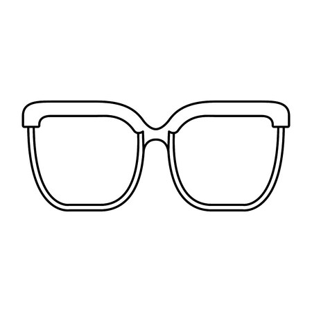 eye glass isolated icon vector illustration design