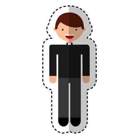 priest man avatar character vector illustration design Ilustração