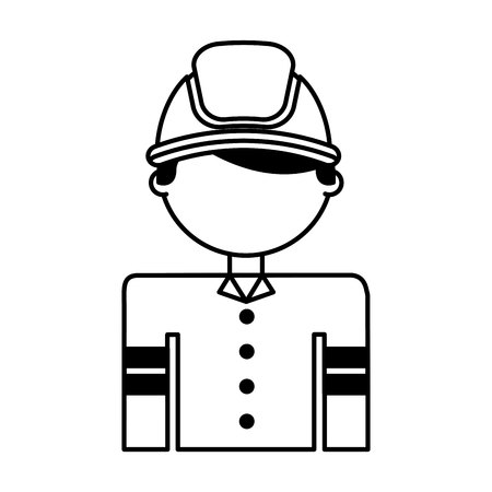 fireman avatar character icon vector illustration design