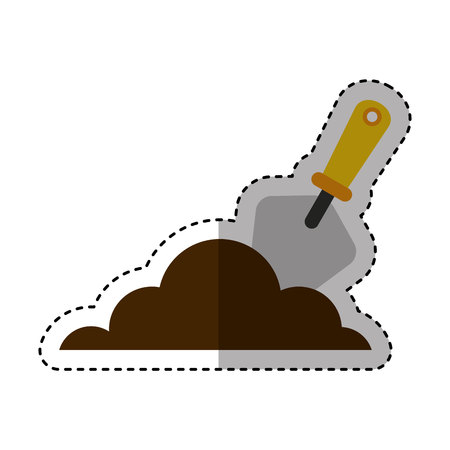 spatula tool isolated icon vector illustration design Çizim