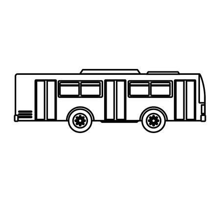 bus transport public icon vector illustration design